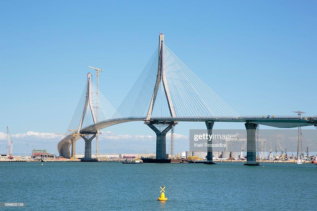 La Pepa bridge under construction : Foto de stock