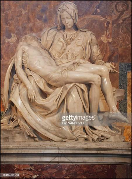 La Pieta' by Michelangelo inside the basilica in Rome, Vatican City on July 01, 2000.
