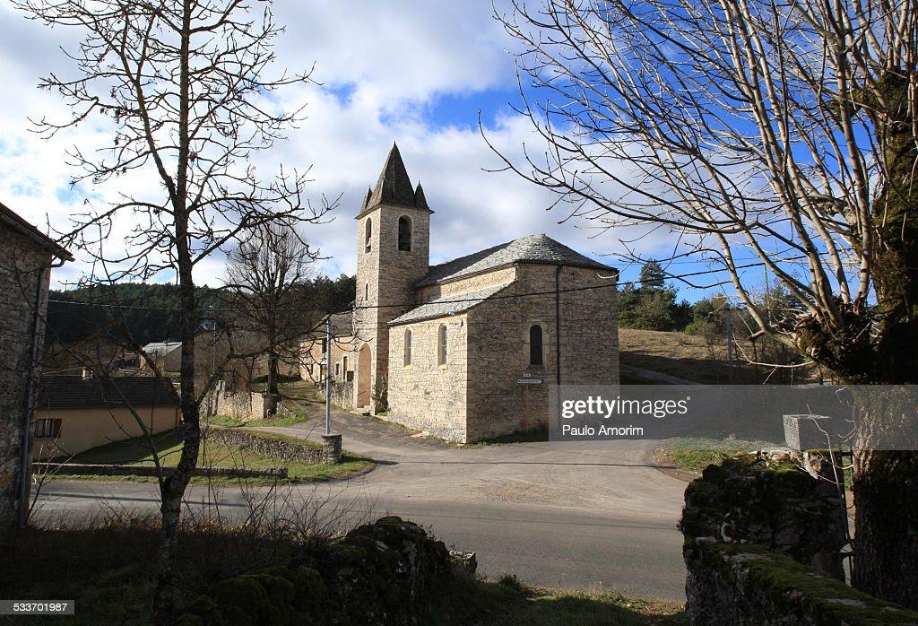 La Piguiere church in France : Foto stock