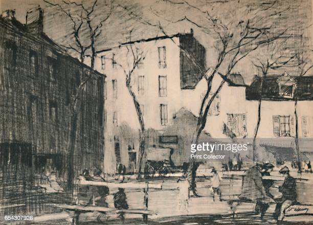 La Place Du Tertre An untouched village square., c1927, . From A Book About Paris by George and Pearl Adam. [Jonathan Cape, London, 1927]. Artist...