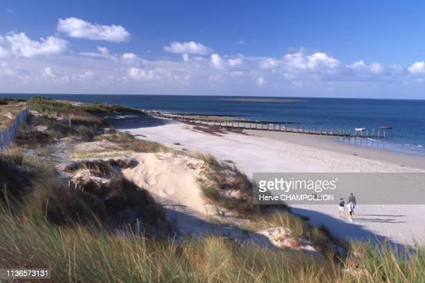 La plage de la Pointe de Devin à L'Epine sur l'Île de Noirmoutier en Vendée France