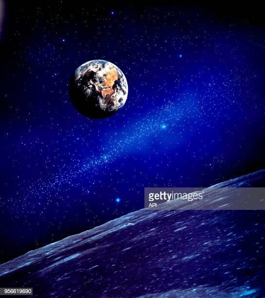 La planète Terre vue depuis son satellite la Lune