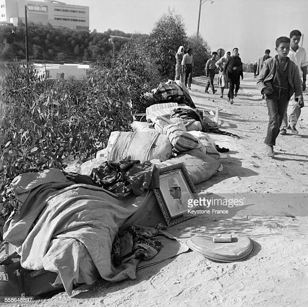 La populatioj fuit la ville suite au tremblement de terre à Agadir Maroc en janvier 1960