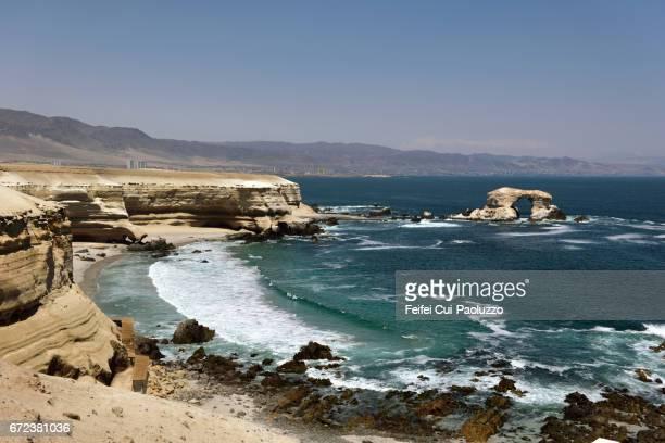 la portada of antofagasta in northern chile - antofagasta region stock photos and pictures
