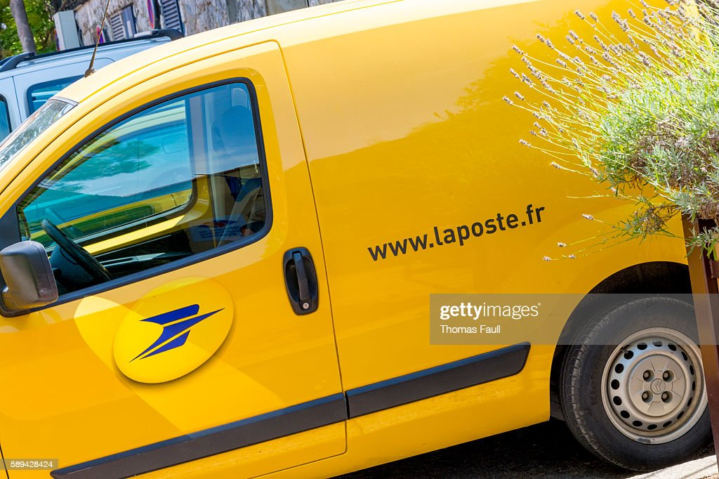 La Poste Van Parked Up : Stock Photo