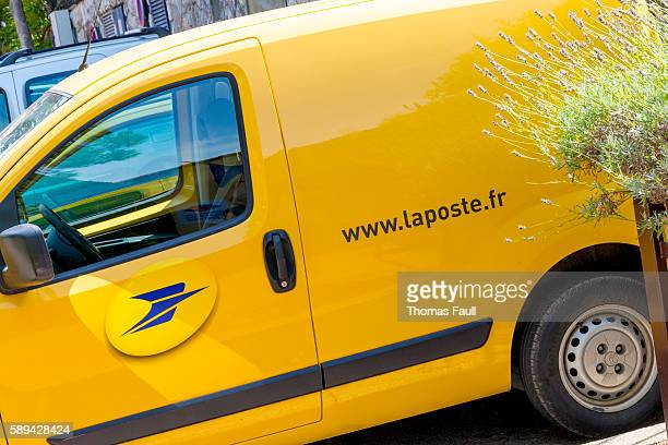 La Poste Van Parked Up
