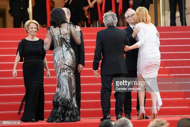 La Presidente of CNC Frederique Bredin President of the Cannes Film Festival Pierre Lescure Eva Green director Roman Polanski Director of the Cannes...