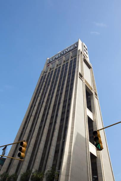 La Previsora Torres against a blue sky, Caracas
