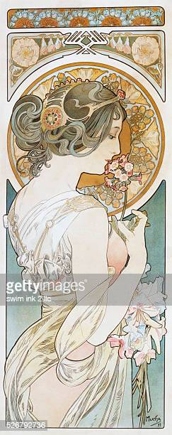 La Primevere Poster by Alphonse Mucha