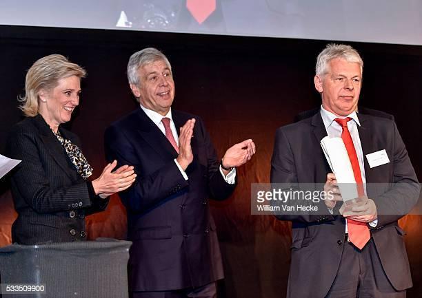 La Princesse Astrid assiste à la remise du Innovation Award une initiative d'Essenscia la Fédération de la Chimie et des Sciences de la vie Prinses...