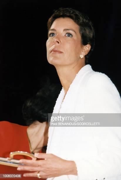 La princesse Caroline a remis les prix du concours de bouquets le 4 mai 1997 à Monaco