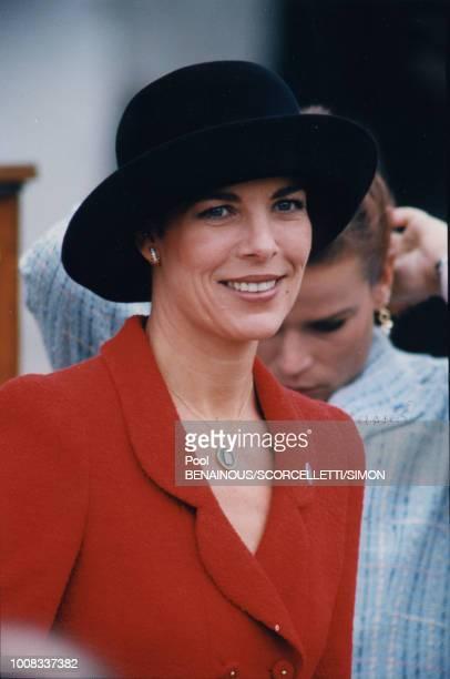 La princesse Caroline de Monaco assiste aux cérémonies le 8 janvier 1997 Monaco