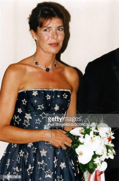 La princesse Caroline de Monaco au Bal de la CroixRouge le 9 août 1996 à Monaco