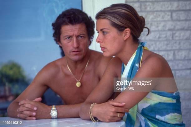 La princesse Caroline de Monaco et son mari Philippe Junot, en juillet 1978, Monaco.