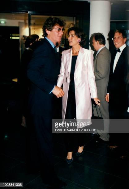 La princesse Caroline de Monaco et son époux le prince ErnestAuguste de Hanovre lors d'une première le 17 mai 1998 à Monaco
