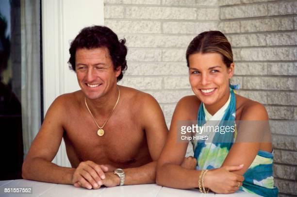 La princesse Caroline de Monaco et son époux Philippe Junot en juillet 1978 Monaco