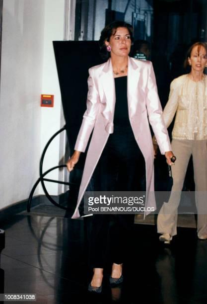 La princesse Caroline de Monaco lors d'une première le 17 mai 1998 à Monaco