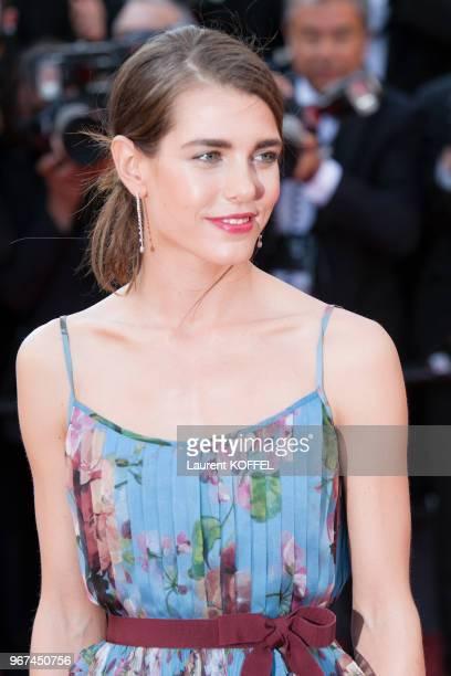 La princesse Charlotte Casiraghi lors de la montée des marches pour la première du film 'Carol' durant le 68eme Festival du Film au Palais des...