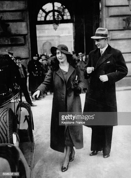 La princesse Ingrid de Suède et son futur mari le prince Frédéric de Danemark photographiés à Stockholm Suède le 15 mars 1935
