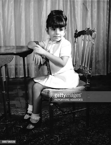 La princesse iranienne Farahnaz Pahlavi fille aînée du Shah d'Iran et de la Shabanou Farah Diba circa 1967 en Iran