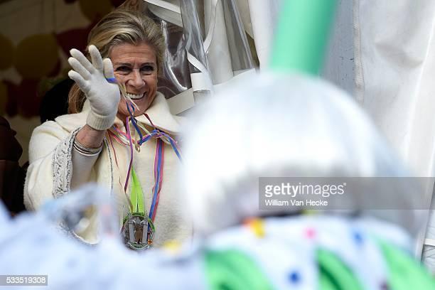 La Princesse Léa assiste au Carnaval d'Eupen Carnaval Eupen in aanwezigheid van Prinses Léa Brussels february 8 2016 Princess Léa of Belgium attends...