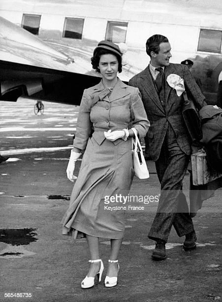 La Princesse Margaret à l'aéroport le 1er juin 1949 à Londres RoyaumeUni
