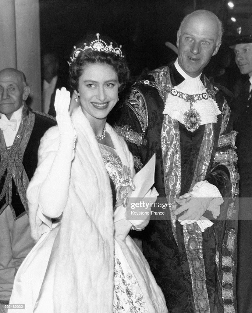 La Princesse Margaret et le Maire de Londres : News Photo