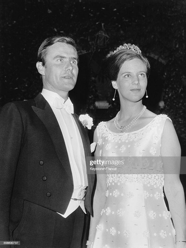 La Princesse Margrethe Et Son Fiance A L'Ambassade De France A Copenhague : News Photo