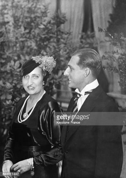 La princesse Maria de las Mercedes de Bourbon et le prince des Asturies Juan de Bourbon y Battenberg quelques jours avant leur mariage à Rome Italie...