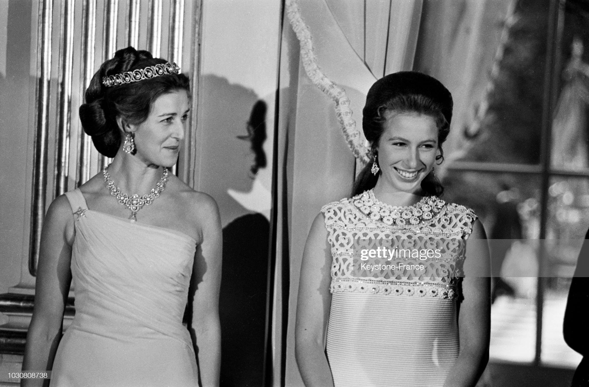 La princessse Anne au bal de l'ambassadeur de Grande-Bretagne à Paris : News Photo