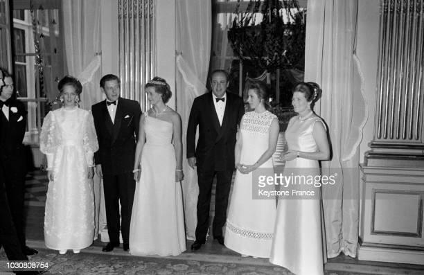 La princessse Anne d'Angleterre invitée au bal donné par l'ambassadeur de GrandeBretagne Christopher Soames pour ses enfants Emma et Nicholas à Paris...