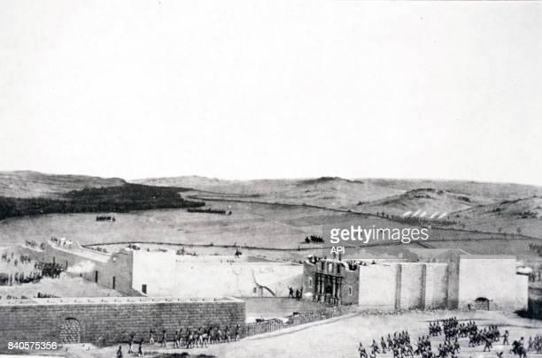 La prise de Fort alamo par l'armée mexicaine le 6 mars 1836