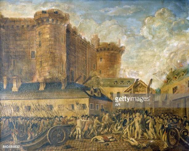 La prise de la Bastille le 14 juillet 1789 à Paris France