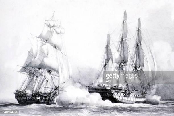 La prise du 'Kent' par Robert Surcouf à bord de 'La Confiance' le 7 octobre 1800