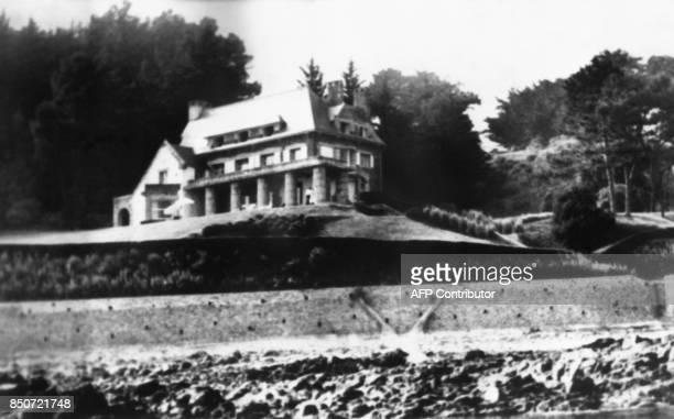 La propriété d'André Bettencourt située sur la pointe de l'Arcouest à Ploubazlanec en Bretagne est photographiée le 26 juillet 1969 AFP PHOTO / AFP...