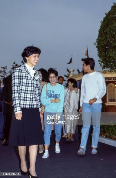 La présentatrice et actrine philippine Kris Aquino lors d'une visite à Disneyland Tokyo le 24 mai 1986, Japon.