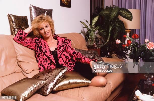 La présentatrice Evelyne Leclercq le 23 mars 1987 à Paris France