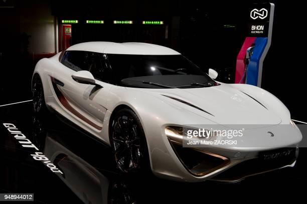 La Quant 48 volt présentée en première mondiale sur le stand Quant dans le cadre du salon international de l'automobile à Genève en Suisse le 8 mars...