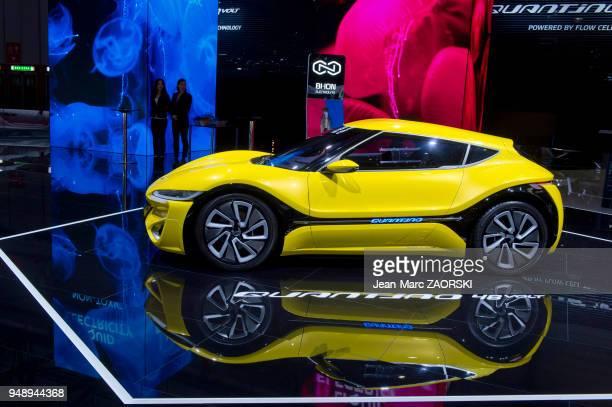 La Quantino 48 volt présentée en première mondiale sur le stand Quant dans le cadre du salon international de l'automobile à Genève en Suisse le 8...
