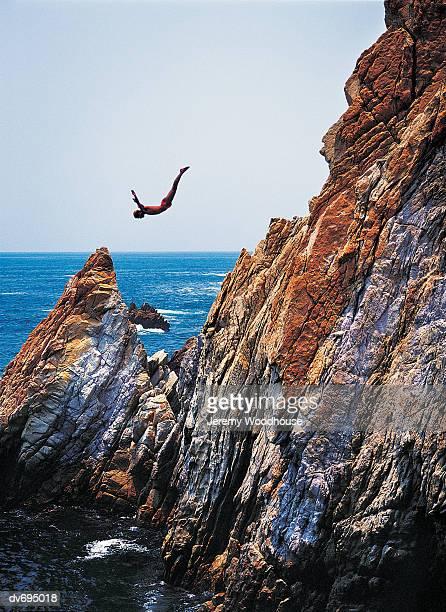La Quebrada cliff diver, Acapulco, Mexico