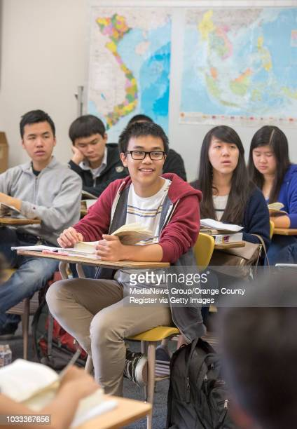 La Quinta High School Vietnamese language students read a book in Vietnamese in Dzung Bach's class The Garden Grove School District has approved a...