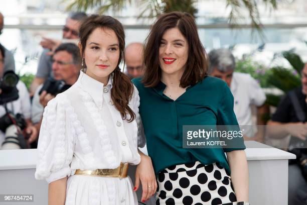La réalisatrice Valerie Donzelli et l'actrice Anais Demoustier lors du photocall du film 'Marguerite Julien' pendant le 68eme Festival du Film Annuel...