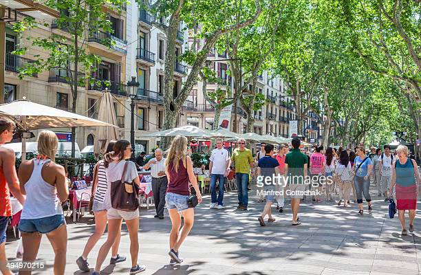 la rambla barcelona - the ramblas stock pictures, royalty-free photos & images
