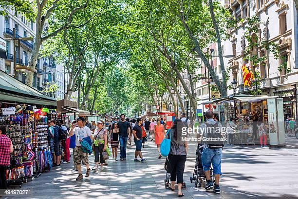 La Rambla pedestrian mall Barcelona