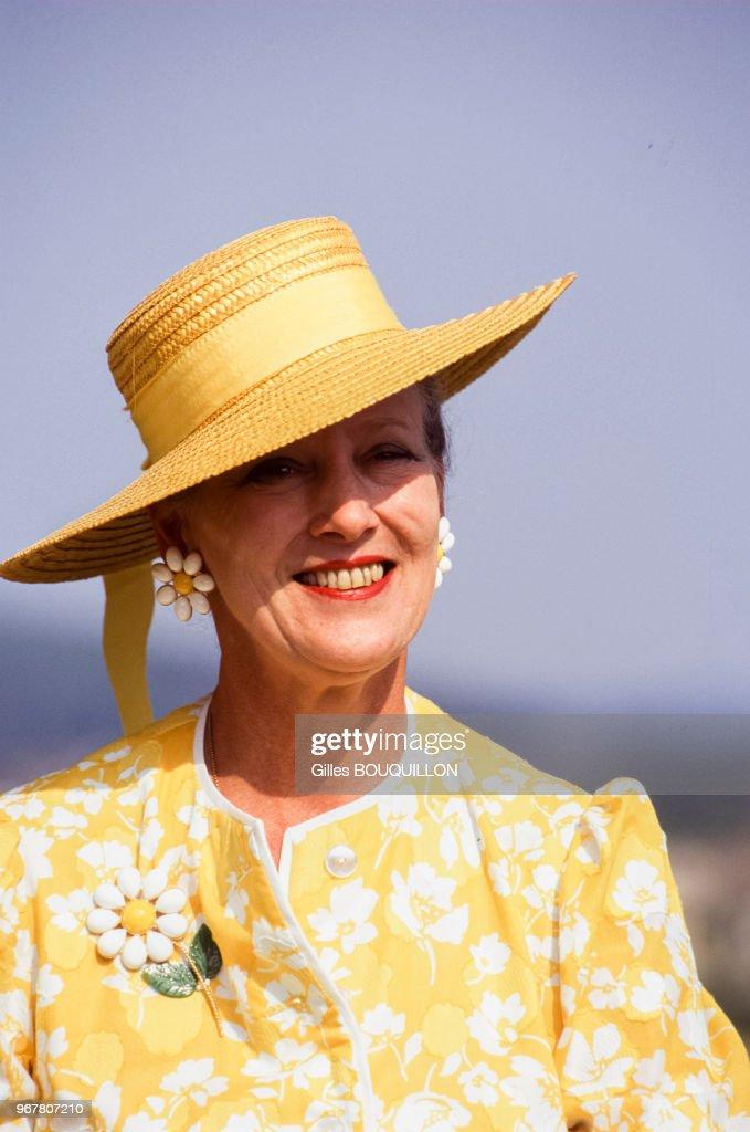 Portrait de la reine Margrethe de Danemark : News Photo