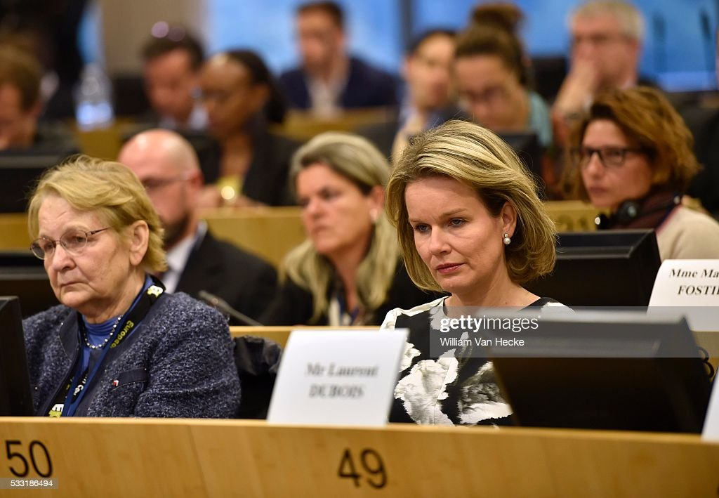 Queen Mathilde attends the opening of the 1st 'European Microfinance Day' : Nieuwsfoto's