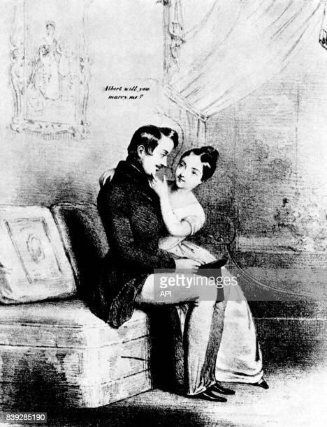 La reine Victoria du RoyaumeUni et son mari le prince consort Albert de SaxeCobourgGotha