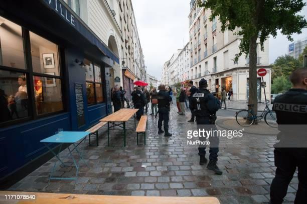 La Republique en Marche candidate for the Paris 2020 mayoral election Benjamin Griveaux is talking to parisians in a meeting called « Quartiers...