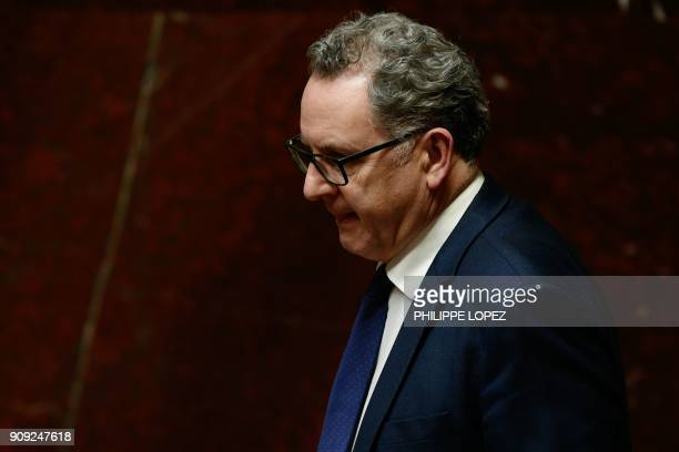 La Republique en Marche member of Parliament Richard Ferrand attend a session of questions to the government at the National Assembly in Paris on...