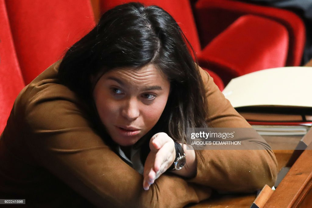 La Republique En Marche (LREM) party member of parliament Anne-Laure Cattelot attends a session of questions to the government at the National Assembly in Paris on February 21, 2018. /